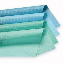 Hartie sterilizare 75x75cm alb-verde