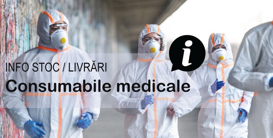 Info stoc/livrari: consumabile medicale